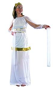 FIORI PAOLO-Poppea Antica romana disfraz mujer adulto Womens, color blanco, talla 40-42, 62131
