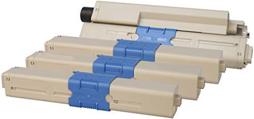 TONER EXPERTE® C301 C321 MC332 MC342 4 Toner kompatibel für Oki C301dn C321dn MC332dn MC342dn MC342dnw MC342dw MC342w | 44973536 2200 Seiten 44973535 44973534 44973533 1500 Seiten -