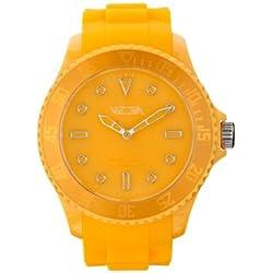 Vega Unisex Quartz Watch with Orange Dial Analogue Display and Orange Silicone Strap VEGWATMUS