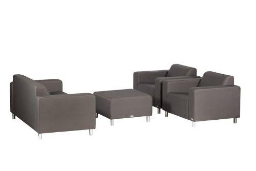 TOM Lounge Gartensofa 3er Sofa Silvertex Meteor - 6