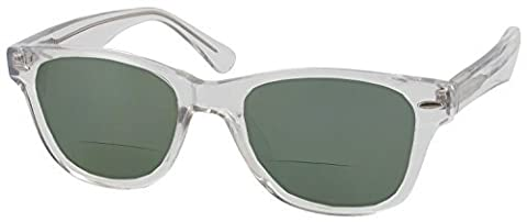Winston Bifocal Sun Reader Designer Reading Glasses, Crystal, +2.25 by Circa Spectacles