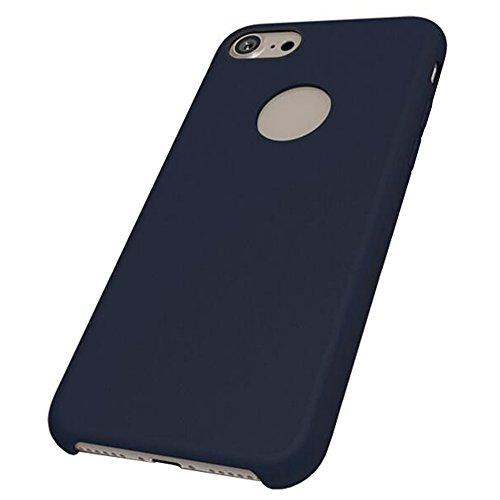 iPhone 6/6S Plus Weich TPU Silikon Hülle + Gehärtetes Displayschutzfolie,SUNAVY Neu 360-Grad Anti-stoß Anti-Kratzer Anti-überhitzen Handyhülle Schutzhülle für Apple6/6S Plus,5.5 zoll,Rot Tiefblau