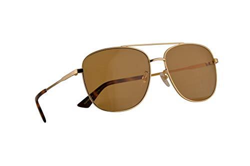 Gucci GG0410SK Sonnenbrille Gold Mit Braunen Gläsern 61mm 004 GG0410/SK 0410/SK GG 0410SK
