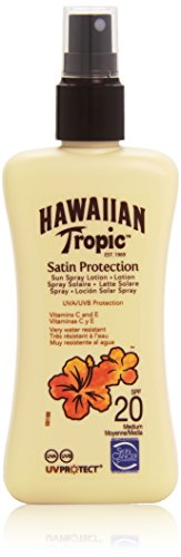 Hawaiian Tropic Satin Protection Sun Spray Lotion LSF 20, 200 ml