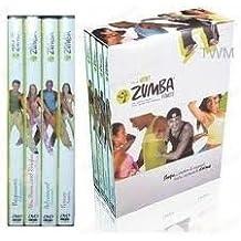 Caja con 4 DVD, rutina de fitness, entrenamiento latino de Zumba
