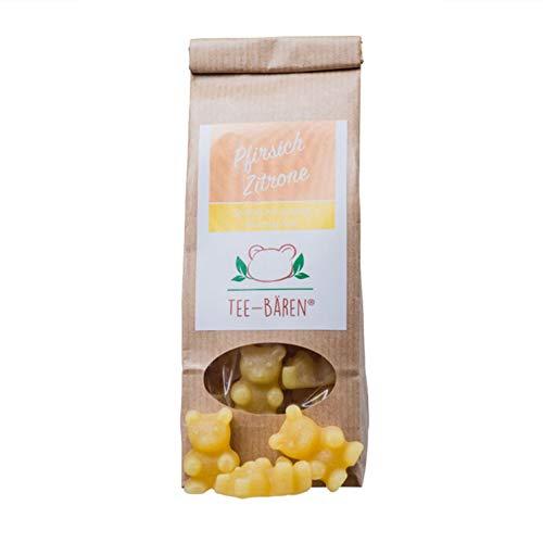 Tee Bären Special Edition Einhorn 18g, Fruchtgummi mit Himbeer-Vanille-Geschmack zur Herstellung eines Heißgetränks (Pfirsich Zitrone, 100 g) - Ingwer-pfefferminz-tee