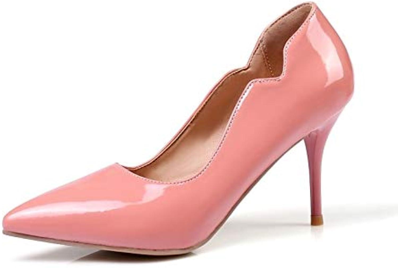 ZHZNVX Scarpe Scarpe Scarpe da Donna PU (Poliuretano) Summer Basic Pump Heels Tacco a Spillo Giallo Rosso   rosa, rosa, US5.5...   Costi Moderati  e8e0f0