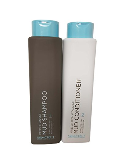 Seacret ensemble shampooing nettoyant profond et riche en minéraux revitalisant boue revitalisante conditionneur 500 ml chaque bouteille