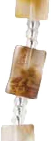 Plaid certains brins classique Bijoux Petit rectangle imitation perles de verre, 3349Ambre (7pièces)