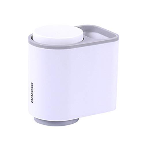 isches Badezimmer Set Saugnapf Zahnbürstenhalter mit hängendem Waschbecher, Drain Nordic Zahnbürste Zahnpasta Regal Waschbecher Set(Grau) ()
