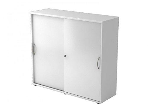 Aktenschrank weiß Schiebetür - Büroschrank mit Schiebetüren