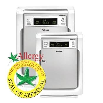 Fellowes PlasmaTRUE range, showing the Allergy UK Seal of Approval