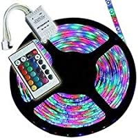 RSCT Waterproof Multi-Color RGB Led Strip Light with Remote Control Wireless Color Changing Cove Light for Bedroom, PC…