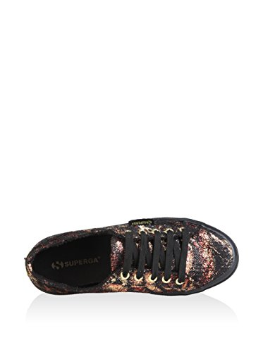 Superga Donna scarpe sportive Nero / oro / rosso