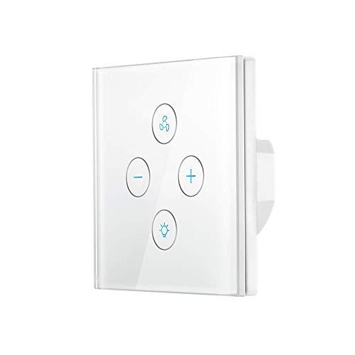 Volwco Interruptor de luz de Ventilador WiFi, Control de Velocidad del Ventilador...