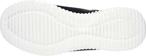 Skechers Elite Flex Muzzin Hommes Toile Baskets Black-White