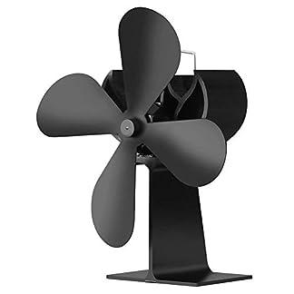 31TKmlk3GPL. SS324  - JOYOOO Ventilador de 4 palas para estufa de leña o chimenea,ecológica Ventilador de estufa calor con ventilador para madera/carbón/leña estufas quemador funcionamiento silencioso
