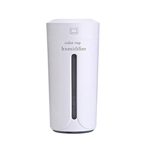 Yeying123 Color Taza De Luz USB Carga Mini Humidificador Colorido Noche Luz Silencioso Humidificador,White