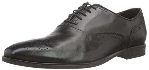 Geox U New Life A, Brogue Uomo, Schwarz (BLACKC9999), 41 EU