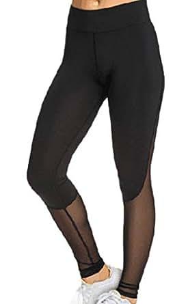 d0547e72d71e9 Image indisponible. Image non disponible pour la couleur : YiyiLai Collant  Fantaisie Femme Tulle Legging Sport Pantalon ...