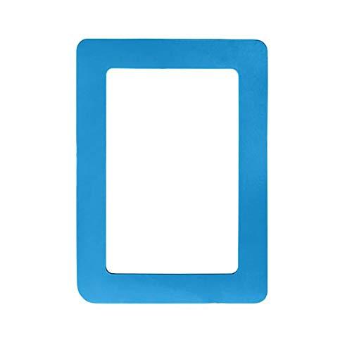 YUANYUAN520 Bilderrahmen 11,8 * 16 cm Fotorahmen Kühlschrankmagnete Kühlschrank Dekor Flexible Multicolor Square Frame Bilderrahmen Fotorahmen, Blau, 160 Mm X 118 Mm