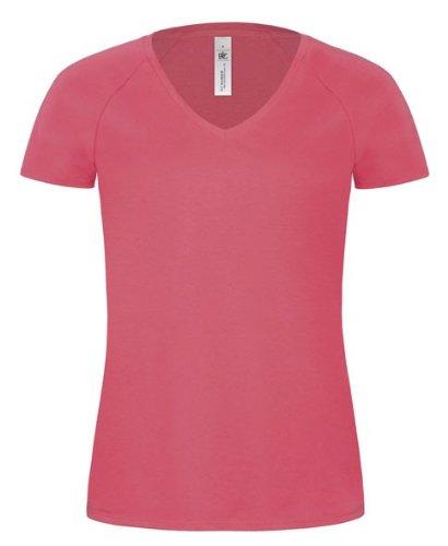 T-Shirt 'Blondie Classic' mit V-Ausschnitt Rosa