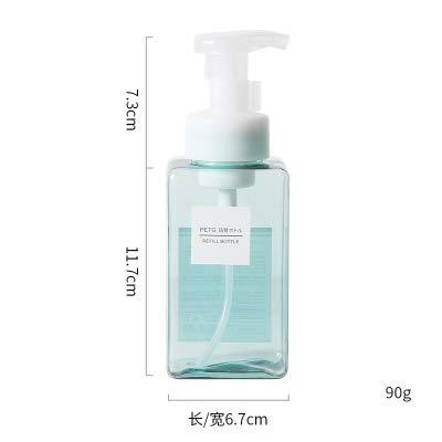 Amgend Mousse Foaming Bottle Cleanser Foaming Shampoo Händedesinfektionsmittel Pressen Flasche Tragbare Flaschen Schäumende Leere Flasche, 450Ml Blau - Schäumende Mousse