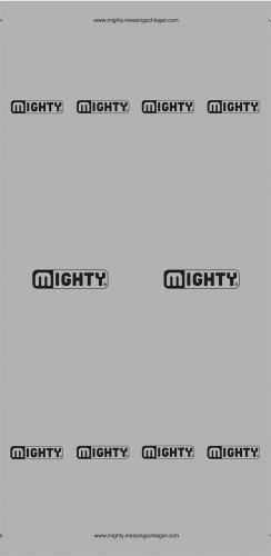 Mighty Promo - Pañuelo para el cuello/cabeza unisex, color gris, 24 x 48 cm Mighty