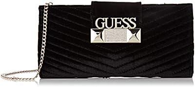 Guess - Jazzie, Bolso de mano Mujer, Negro (Black), 4,5x12x26 cm (W x H L)
