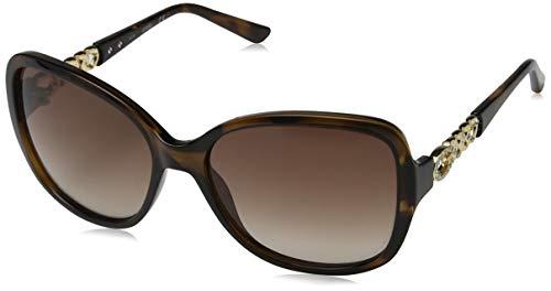 Guess Damen GU 7452 Sonnenbrille, Dark Havana/Gradient Brown, 59