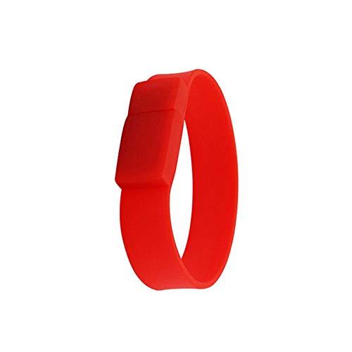 AJIAO USB-Armband Silikon-Armband-Handgelenk USB-Blitz-Antrieb Der Realen Kapazität 100% 16Gb8Gb Flash-Speicher StockUsb2.0-Stockminigeschenke