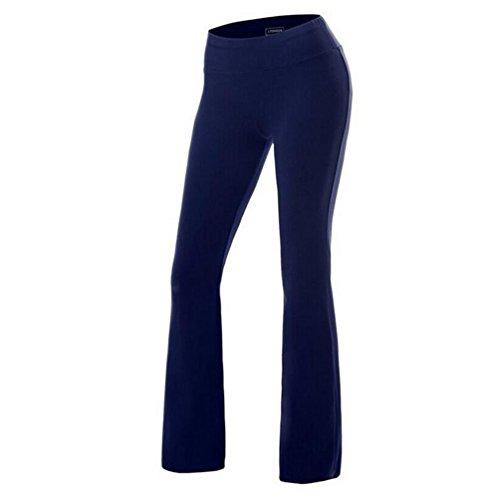 Fitibest Damen Yoga Hose Lange Stretch Hose Hohe Taille Sporthose Freizeithosen Casual Hosen Jogginghose für Yoga,Pilates,Laufen und Tanzen (XL, Marineblau) (Xl-tanzen)