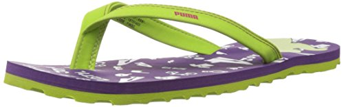 Puma Women's Coral Xc Ind. Purple Magic, Green And White Mesh Flip-flops And House Slippers - 5 Uk/india (38 Eu)