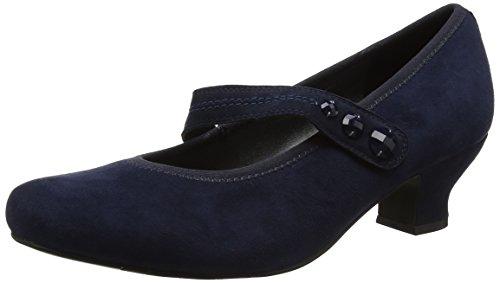 Hotter Women's Charmaine Closed-Toe Heels, Blue (Navy), 5 UK 38 EU