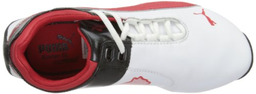 Puma Jnr Future Cat M2 Sf 303968, baskets mixte enfant Blanc - White/Red/Black