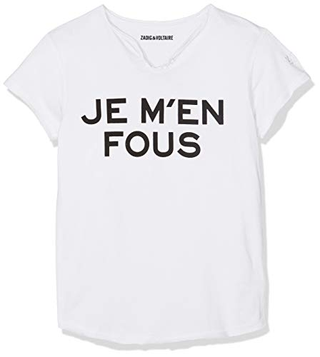 ZADIG&VOLTAIRE T- Shirt COL Tunisien (Blanc 10b), 8 Ans (Taille Fabricant:08A) Fill