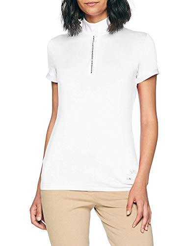 HKM Damen Turniershirt Crystal, Weiß (White 1200), M