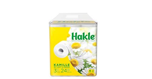 """Hakle Toilettenpapier \""""Natürlich Pflegend mit Kamille und Aloe Vera\"""" 3-lagig, 1er Pack (1 x 24 Stück)"""