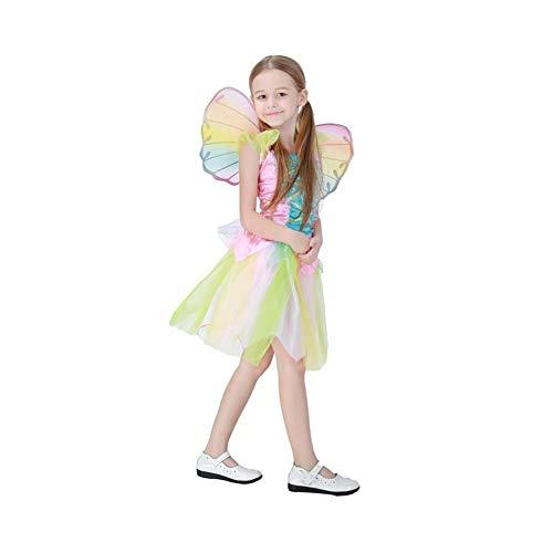 Yaxuan Niedliche Rainbow Angel Rock Halloween Kinderprinzessin Kleid -