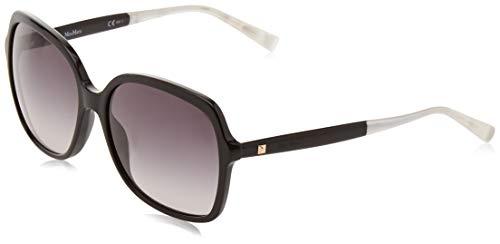Max mara mm light v eu 807 58, occhiali da sole donna, nero (black/grey sf)