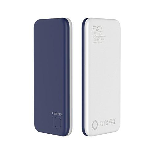 PURIDEA Caricabatterie Portatile Blu Profondo Doppia Porta USB (3A Ingresso Li-polimero) Power Bank Batteria Esterna Per iPhone, iPad, Samsung, Huawei, Nexus, HTC etc