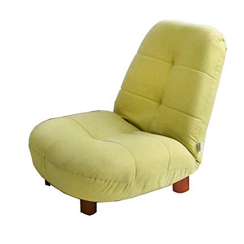 Un Canapé Chaise 14 Positions Réglable Chaise Pliante Chaise De Sol Balcon Chaise De Loisirs 64×50×50CM (Couleur : Green)
