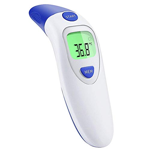 Termometro Medico per Fronte auricolare per bambini Termometro frontale a infrarossi Allarme febbre medica digitale Adulto e oggetti 3 in 1