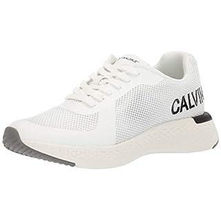 Calvin Klein Jeans Amos Herren Bright Weiß Sneakers-UK 10 / EU 44