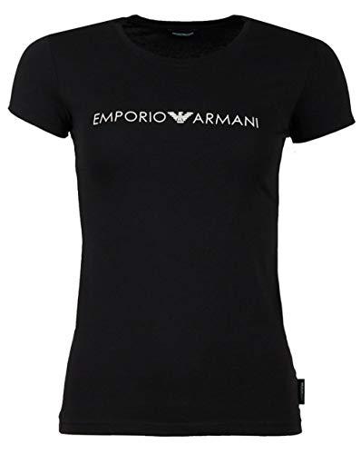 Emporio Armani Underwear Damen T-Shirt 163139, Schwarz (Nero 00020), 36 (Herstellergröße: S)