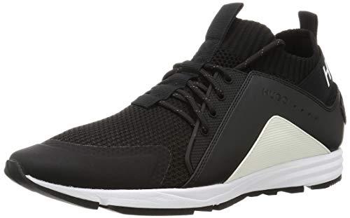 HUGO Herren Hybrid_Runn_knmx Sneaker, Black1