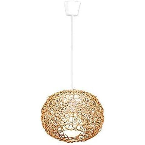 LYNDM-Mejor regalo de Navidad, las lámparas colgantes nido de madera Color Original La Caña hace manualidad moderno , 220v