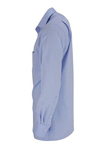 MARVELiS moderne-chemis'ajustée (slim fit) 4704–69–11 h.blau extra long arm - 11-hellblau