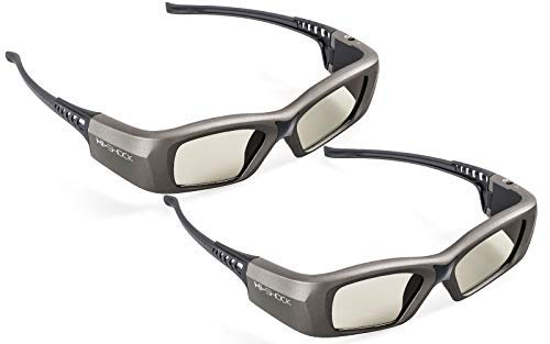 2x Hi-SHOCK BT/RF Pro Oxid Diamond 3D Brille für 3D TV & RF Beamer von Sony, Epson, Jvc, Samsung, Panasonic, Telefunken | DualView SimulView [Shutterbrille | 120 Hz | wiederaufladbar| Bluetooth]