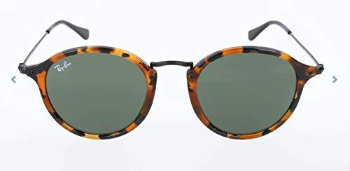 Ray-Ban Herren Sonnenbrille Rb 2447 Mehrfarbig (Gestell: Braun/Schwarz(Havana,Tortoise) Glas: Grün 1157)), Medium (Herstellergröße: 52)